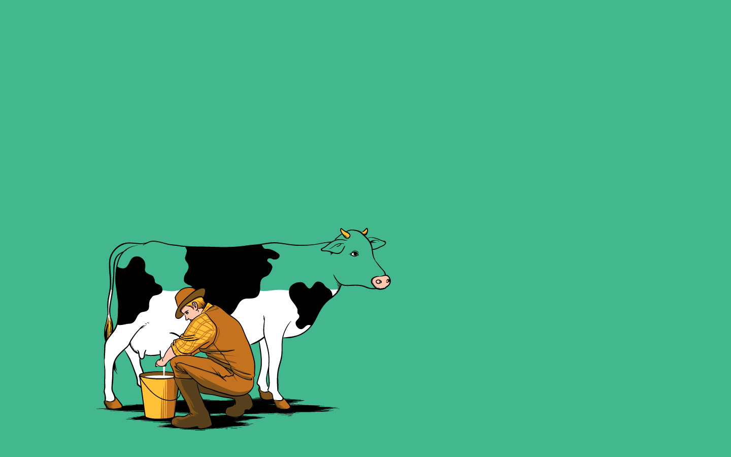 Cute Milk Cow PPT Backgrounds