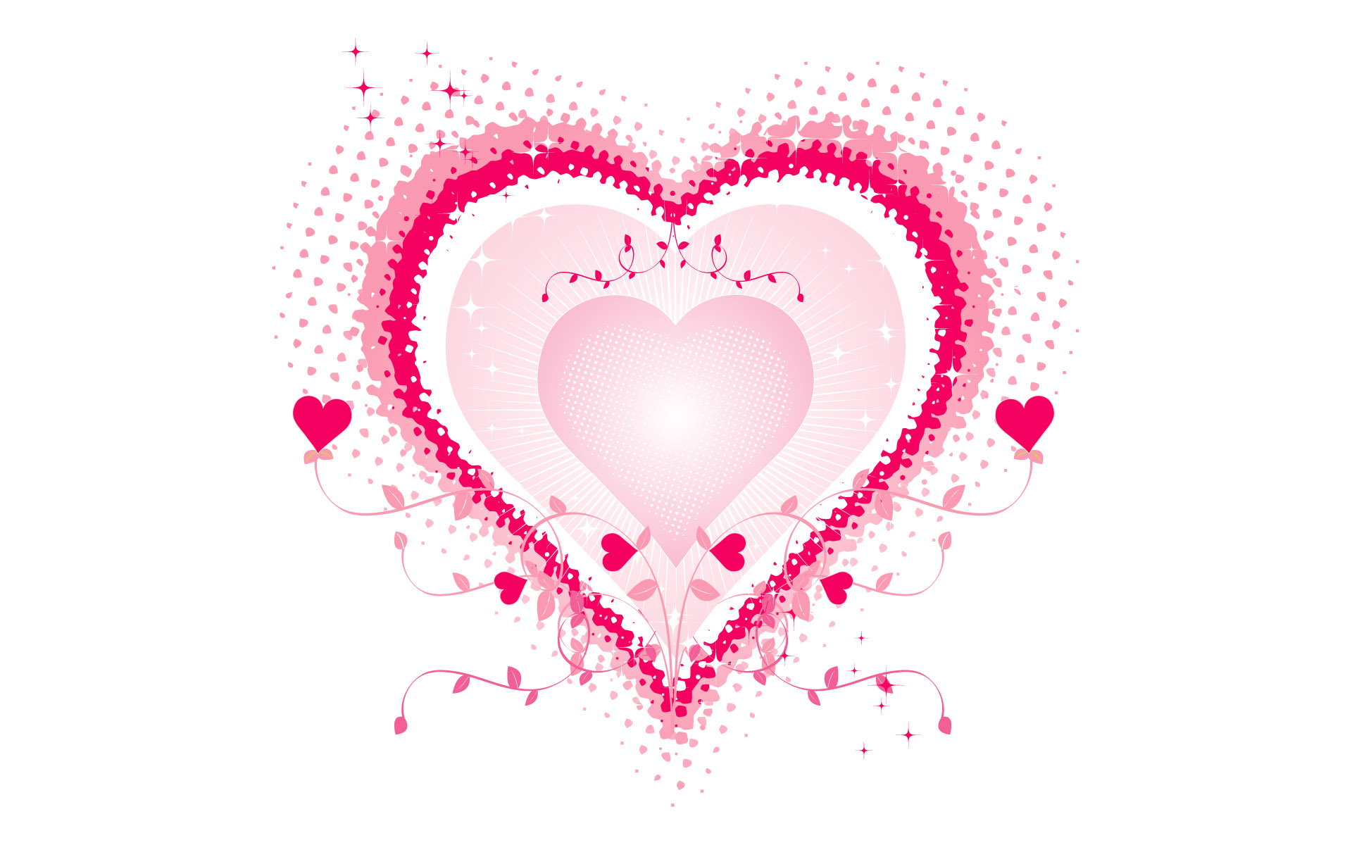 February 14 Valentines Day Hearts PPT Backgrounds
