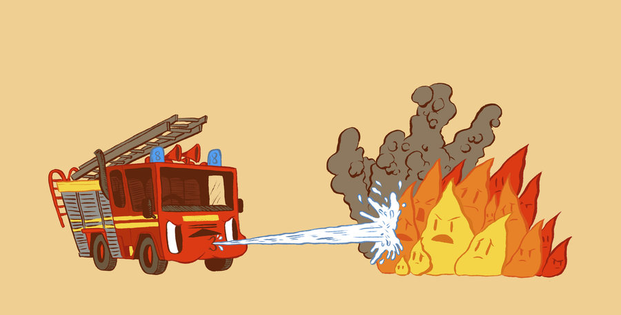Fire vs Engine PPT Backgrounds