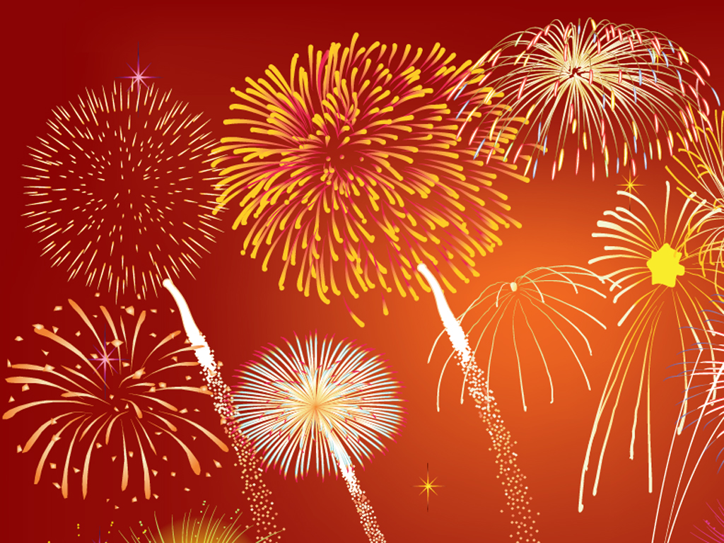 Fireworks Celebrations PPT Backgrounds