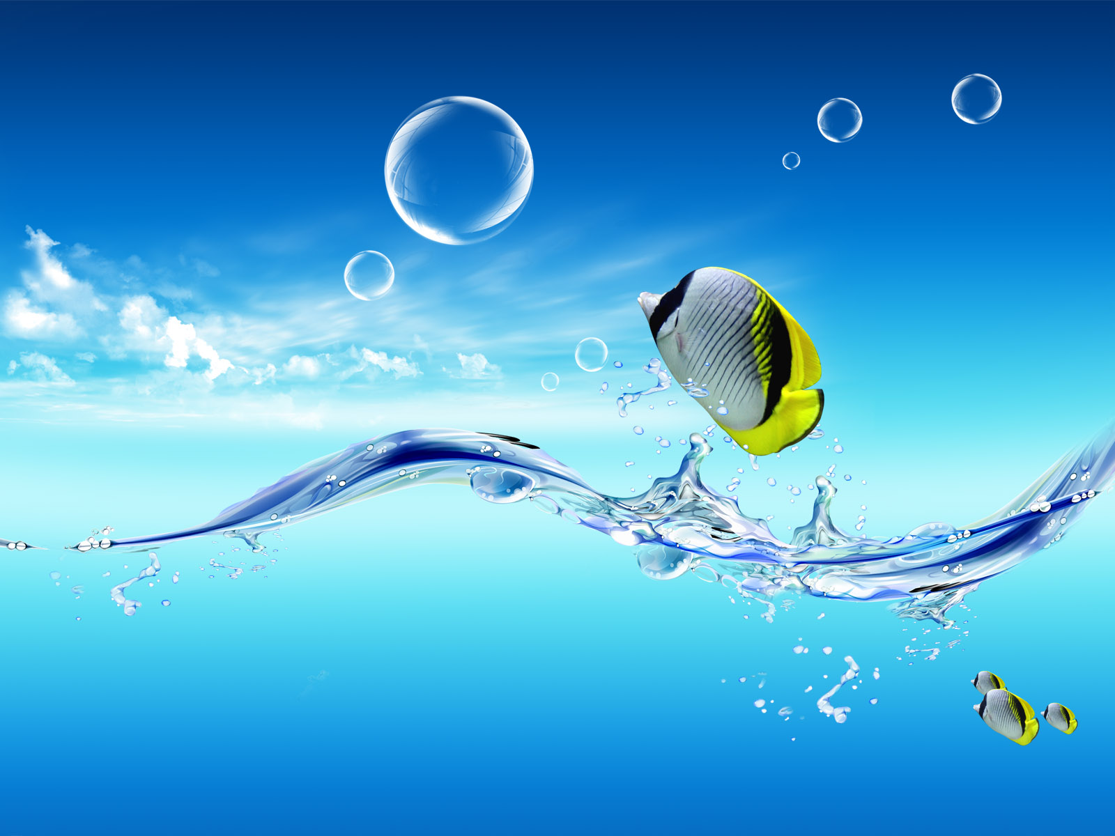 Fish Water PPT Backgrounds