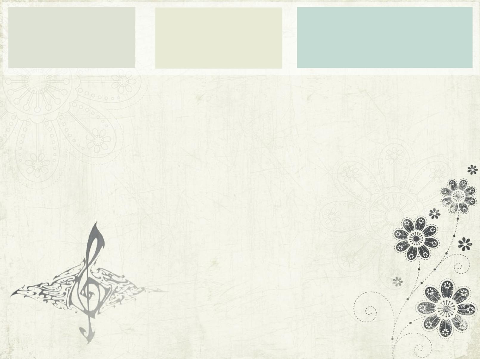 Floral design for music