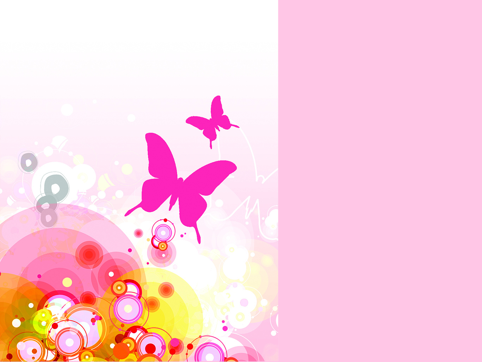 Floral pink abstact PPT Backgrounds