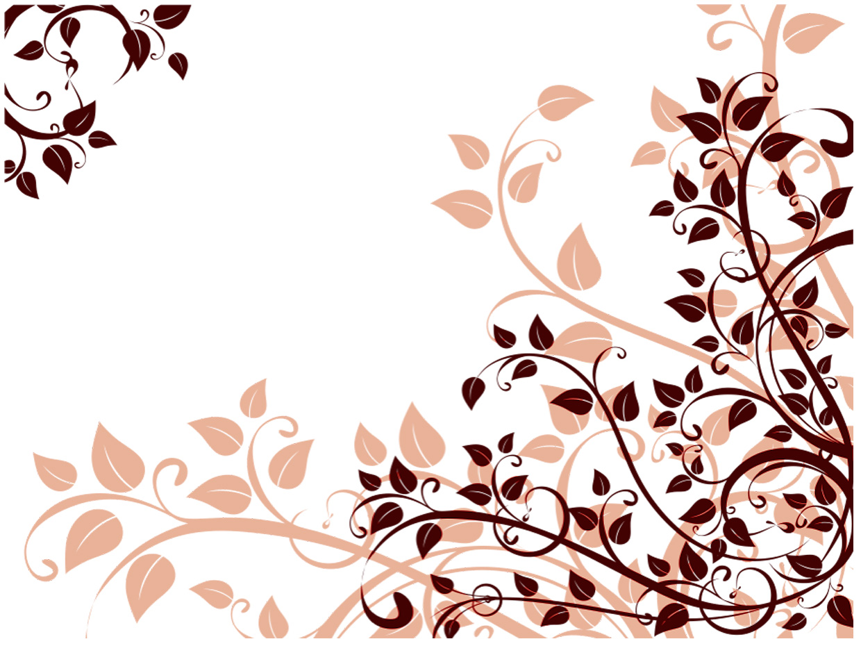 Floral Star Flower PPT Backgrounds