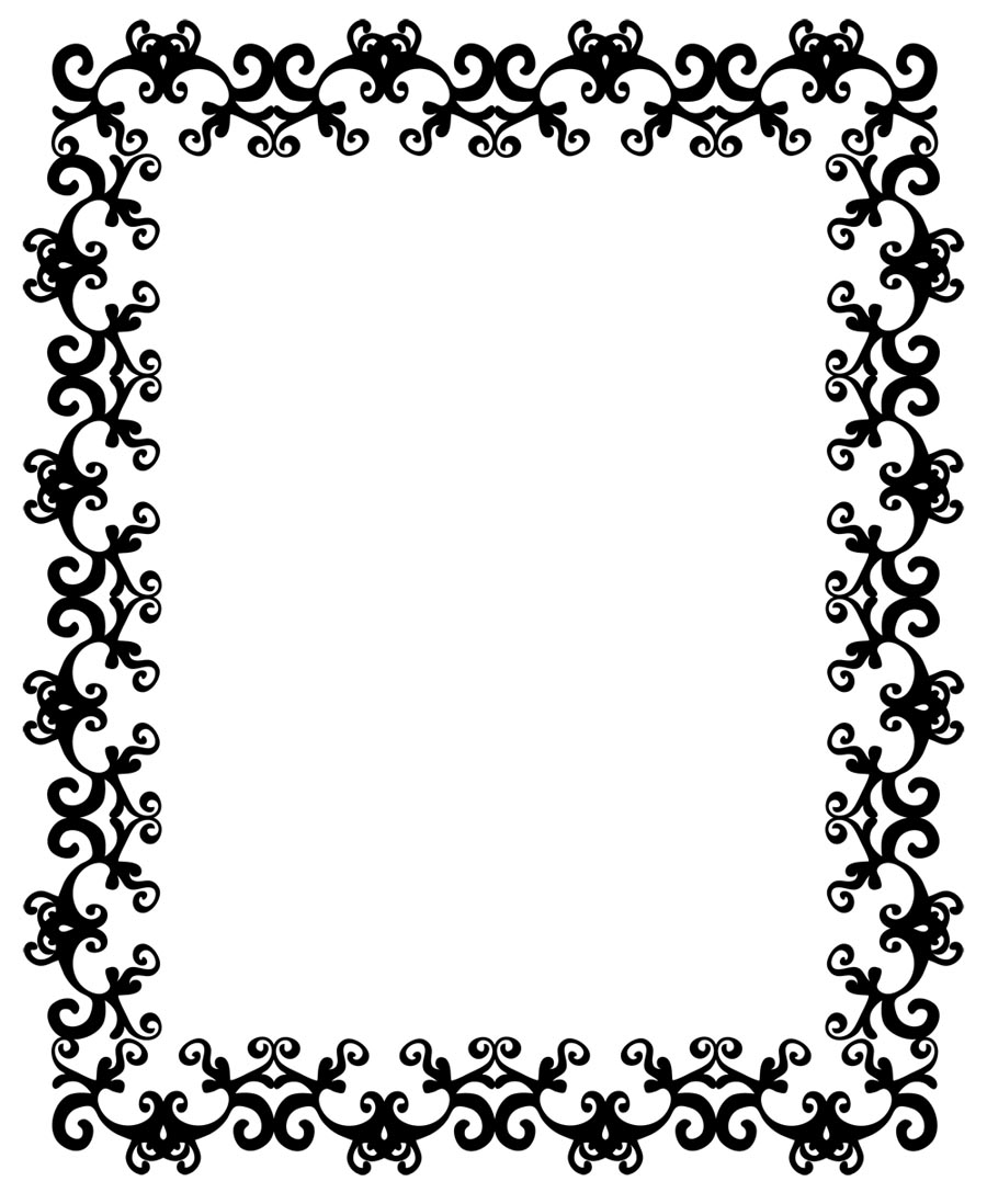 Free Flourish pattern frame border Background for Powerpoint Slides