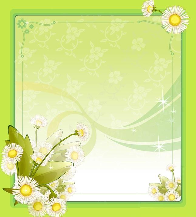 Flower Frame PPT Backgrounds, Flower Frame Ppt Photos