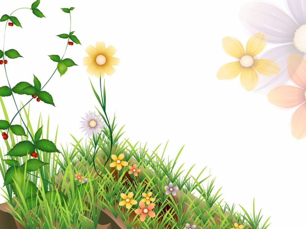 Flower Nature Clip Art PPT Backgrounds