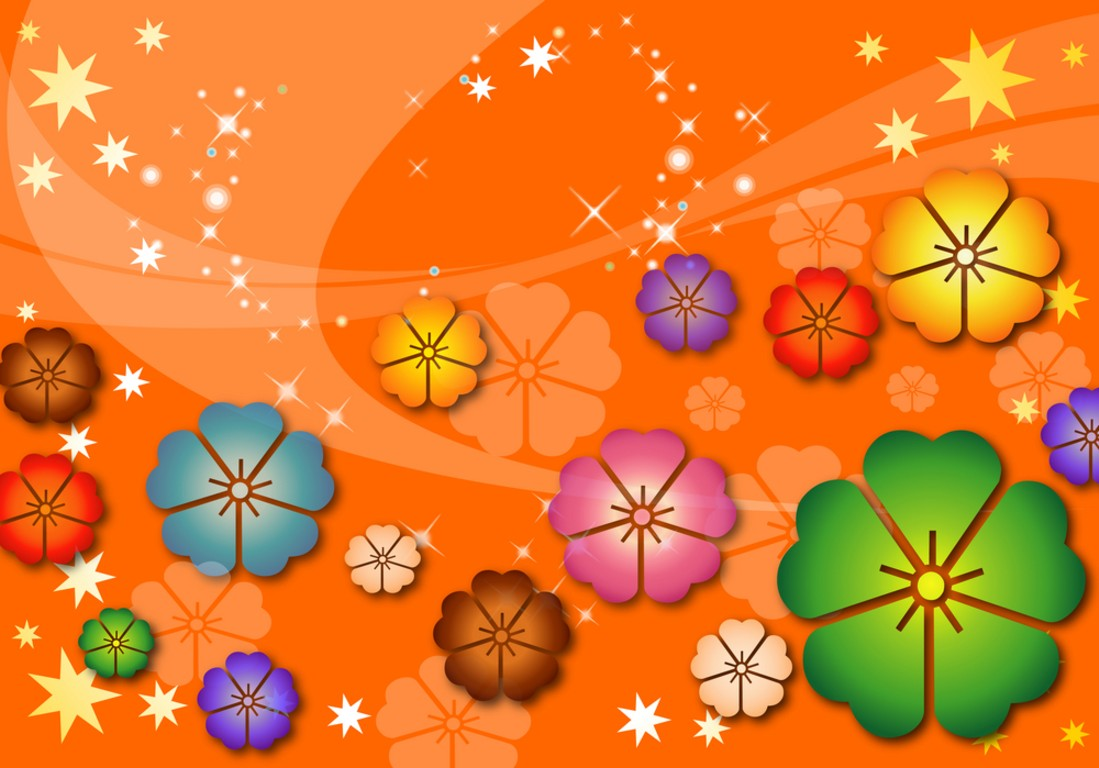 Flowers of Abstract Children PPT Backgrounds