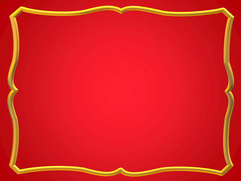 Red with Gold Frames PPT Backgrounds