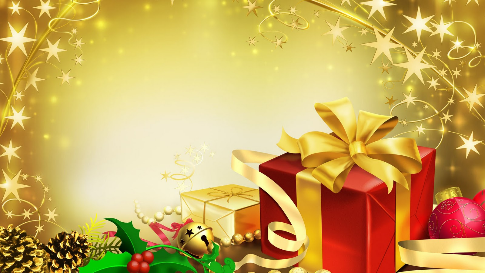 Gifts Border Christmas PPT Backgrounds