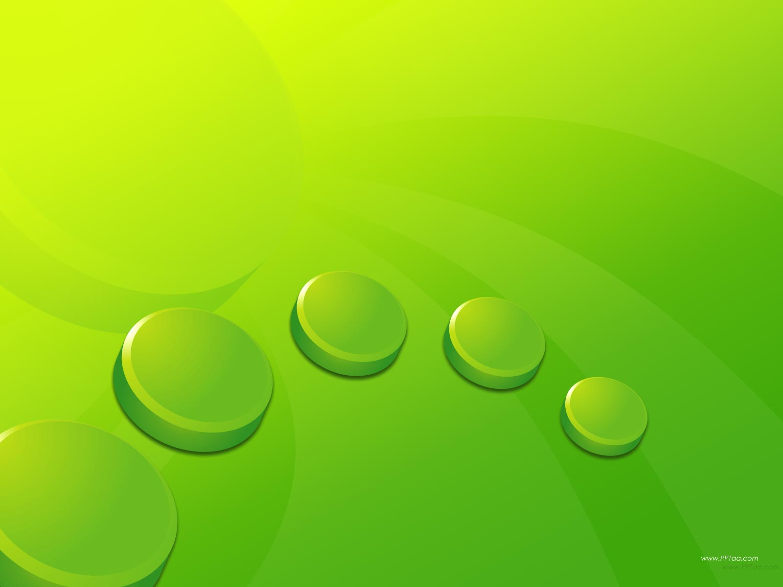 Green Circles PPT Backgrounds