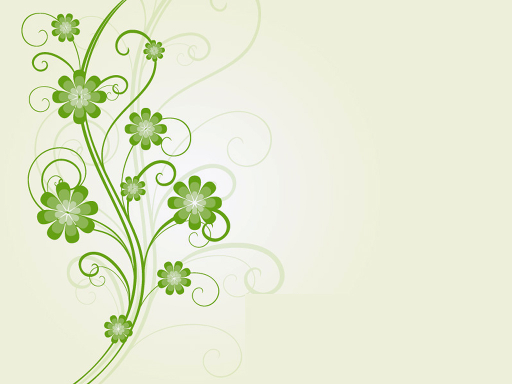 Floral Green flowers PPT Backgrounds