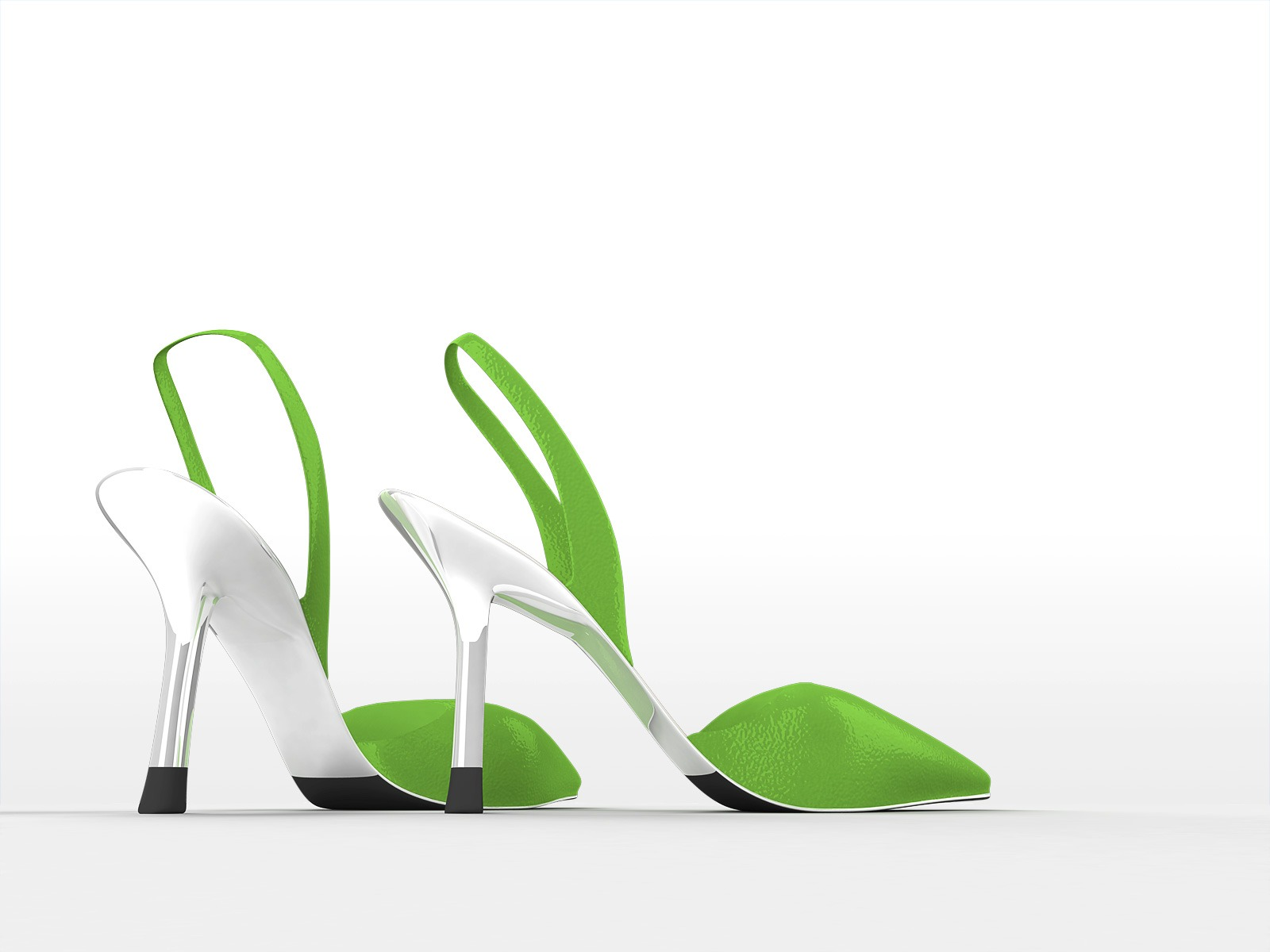 Green Shoes PPT Backgrounds