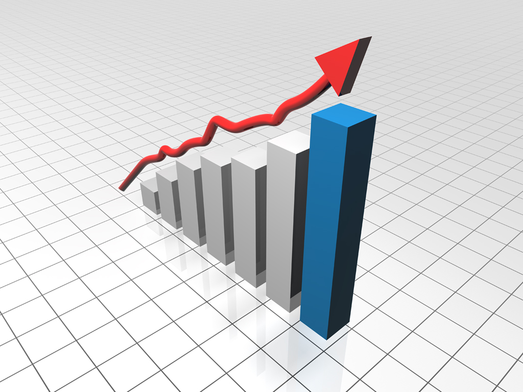 Growth graph bar PPT Backgrounds