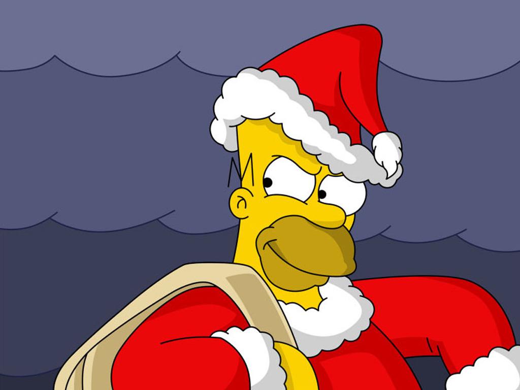 Homer Simpson Santa PPT Backgrounds