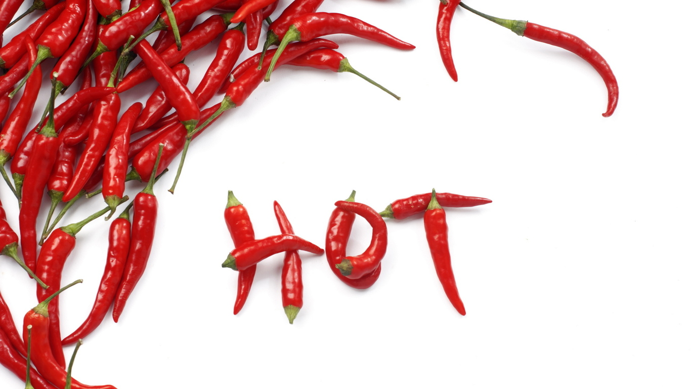 Hot peppers foods PPT Backgrounds