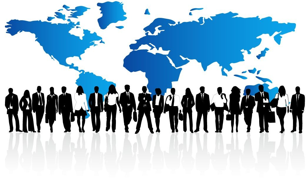 Illustration of Business People PPT Backgrounds