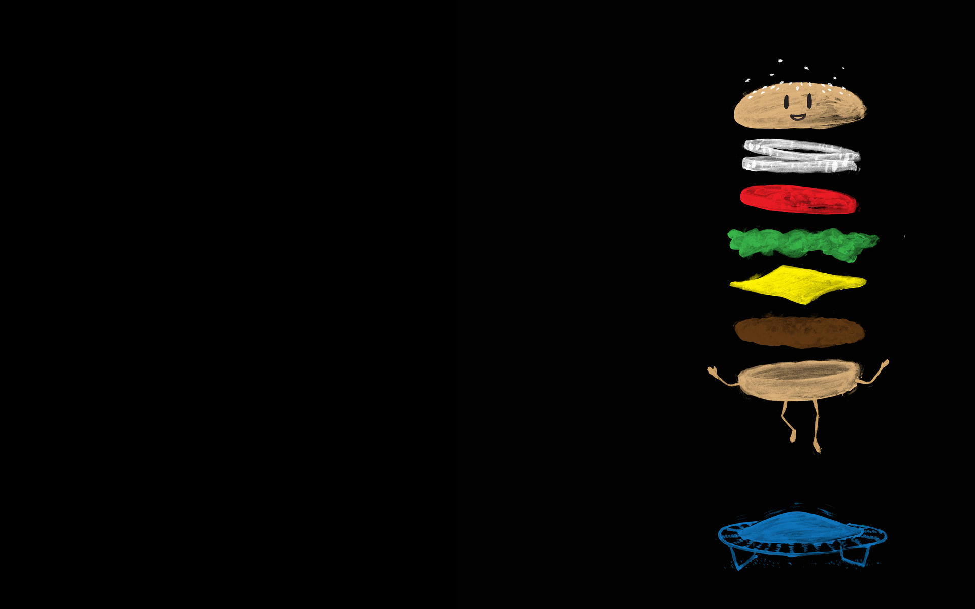 Jumping Hamburger PPT Backgrounds