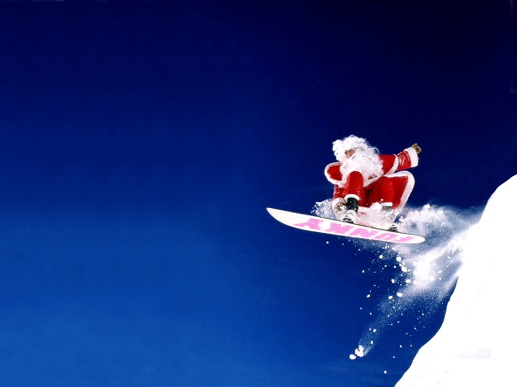Jumping on Snowboarding PPT Backgrounds