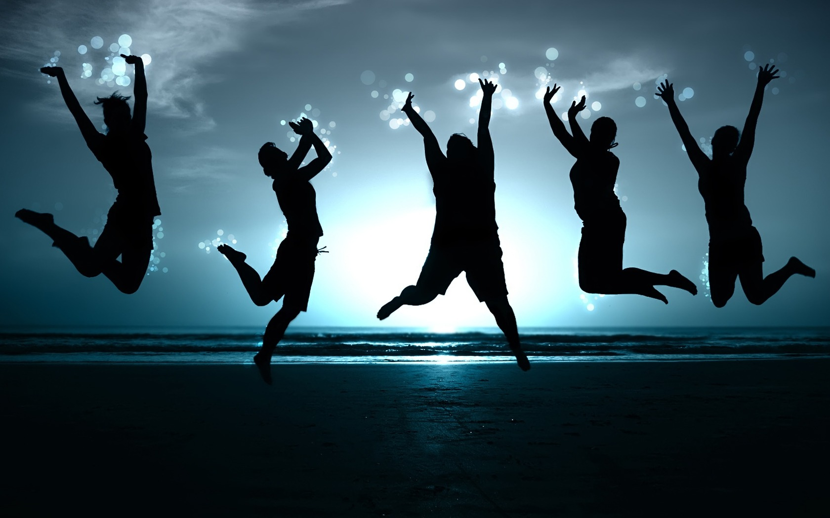 Jumping People PPT Backgrounds