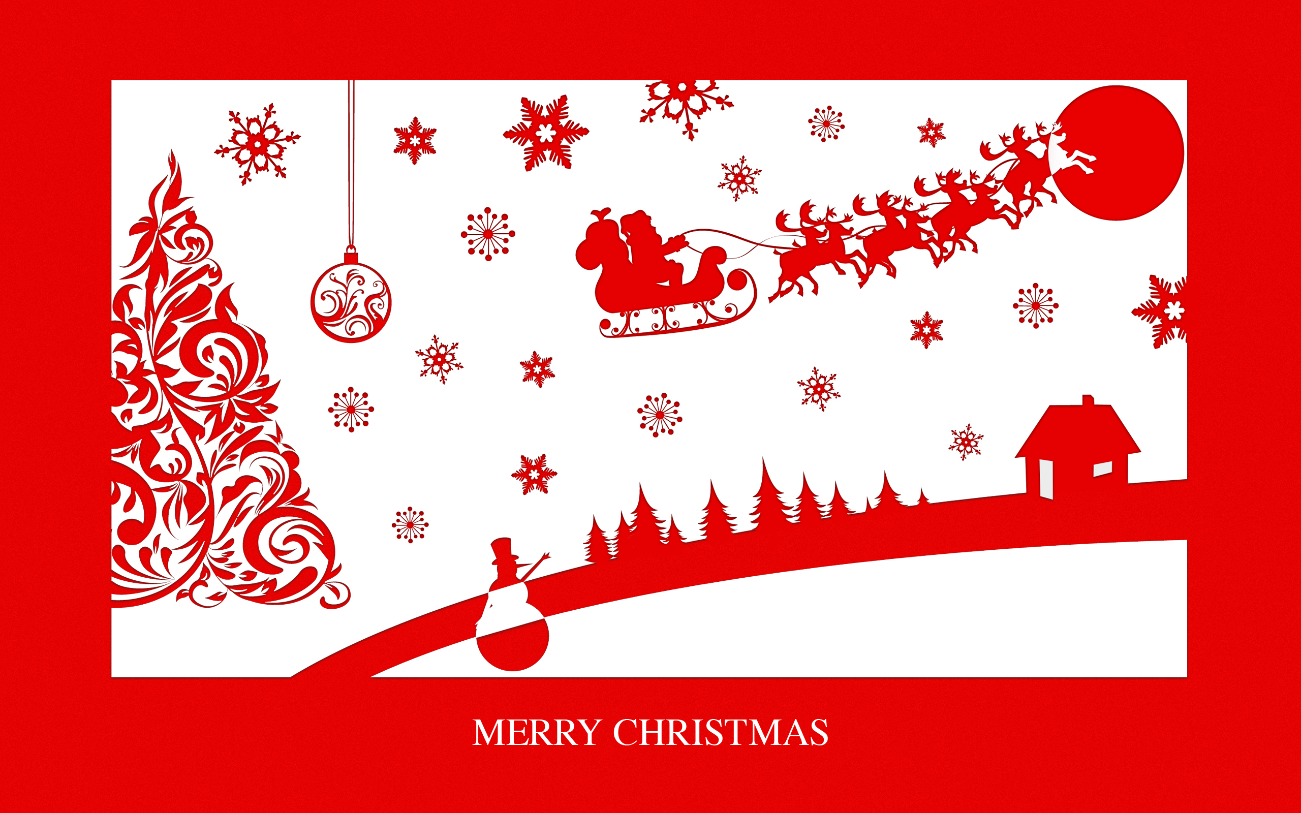 Merry Christmas, Clipart PPT Backgrounds