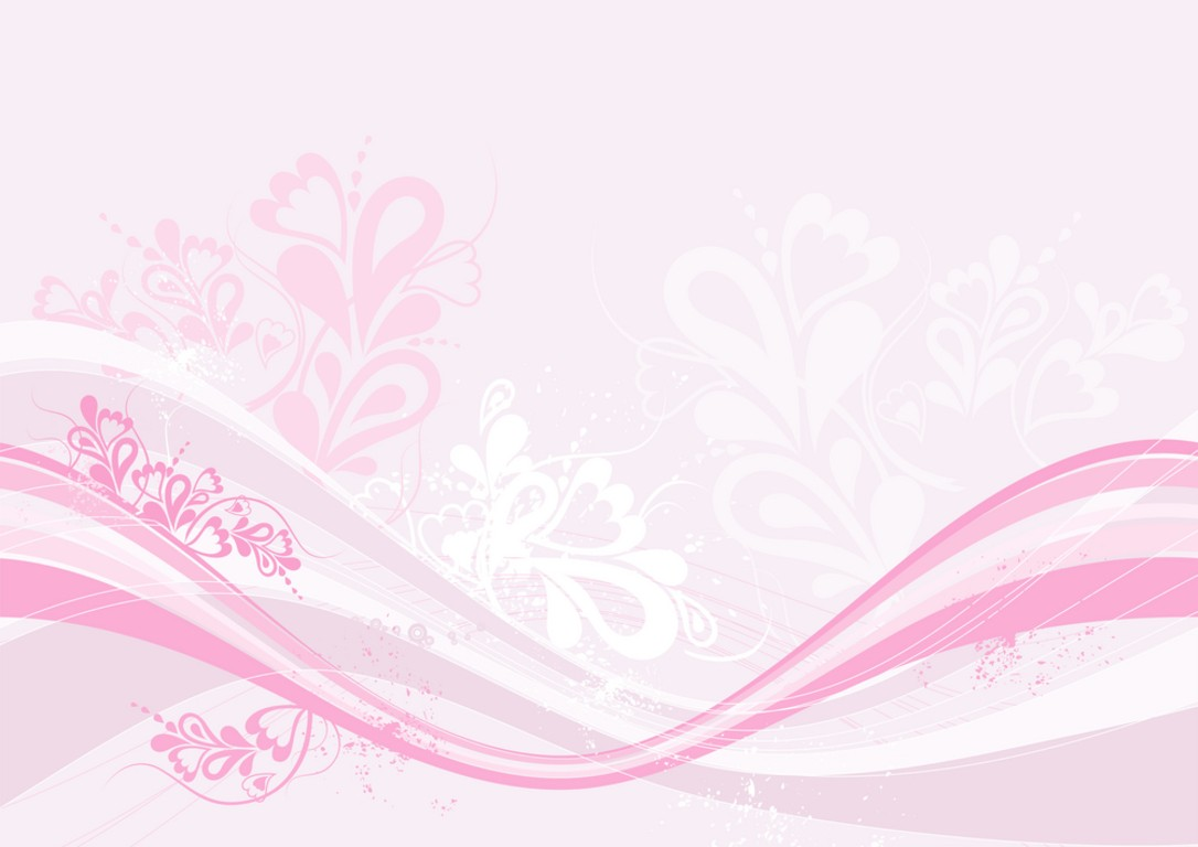 Modern pink floral PPT Backgrounds