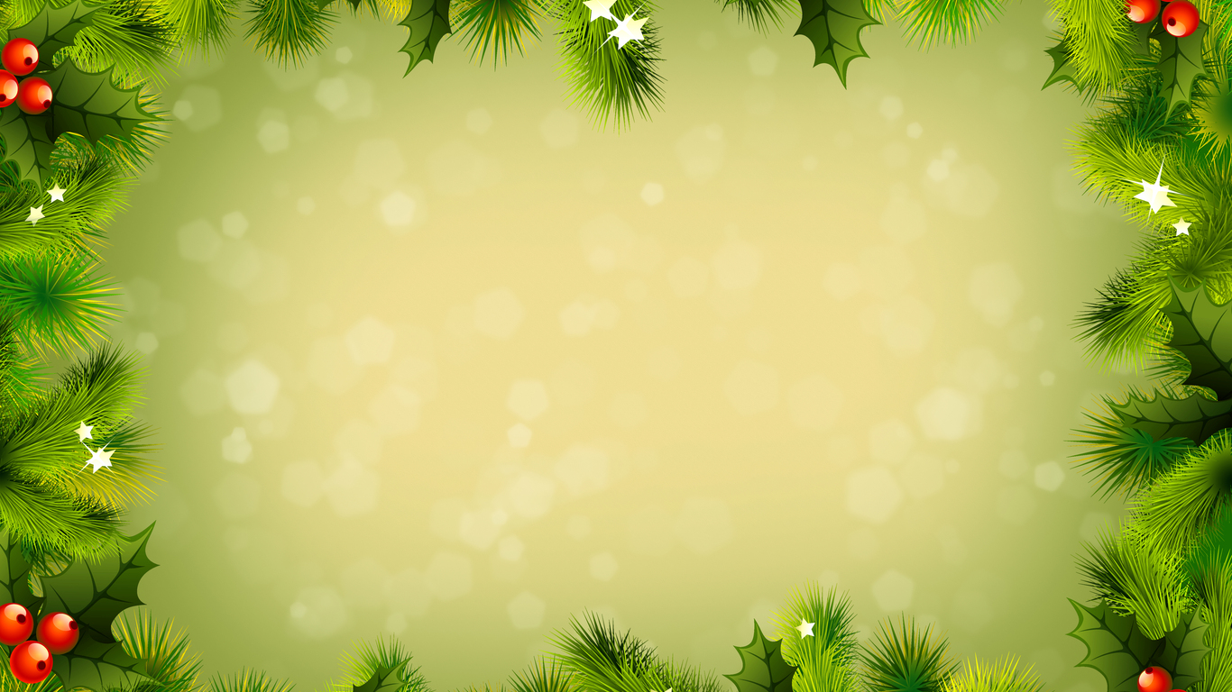 new year tree borders ppt backgrounds