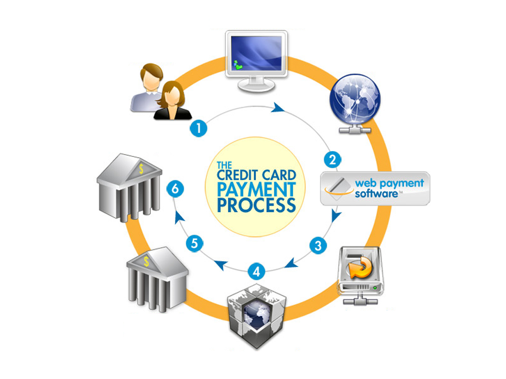Online credit card software PPT Backgrounds