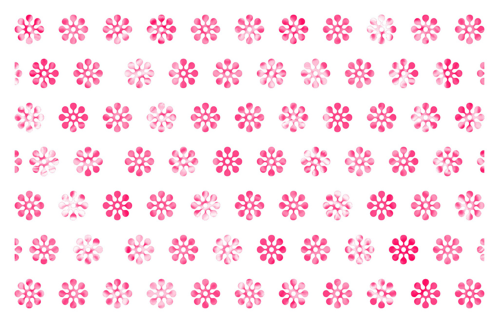 Pattern pink flowers PPT Backgrounds