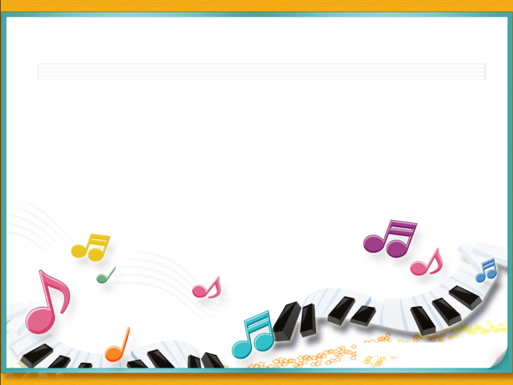 Piano music notes with frames PPT Backgrounds