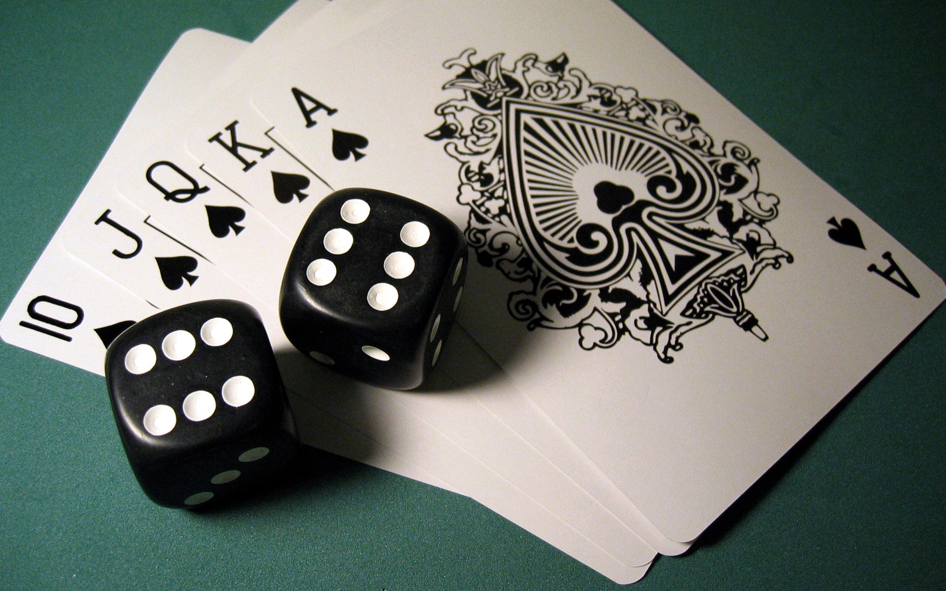 Poker cards PPT Backgrounds