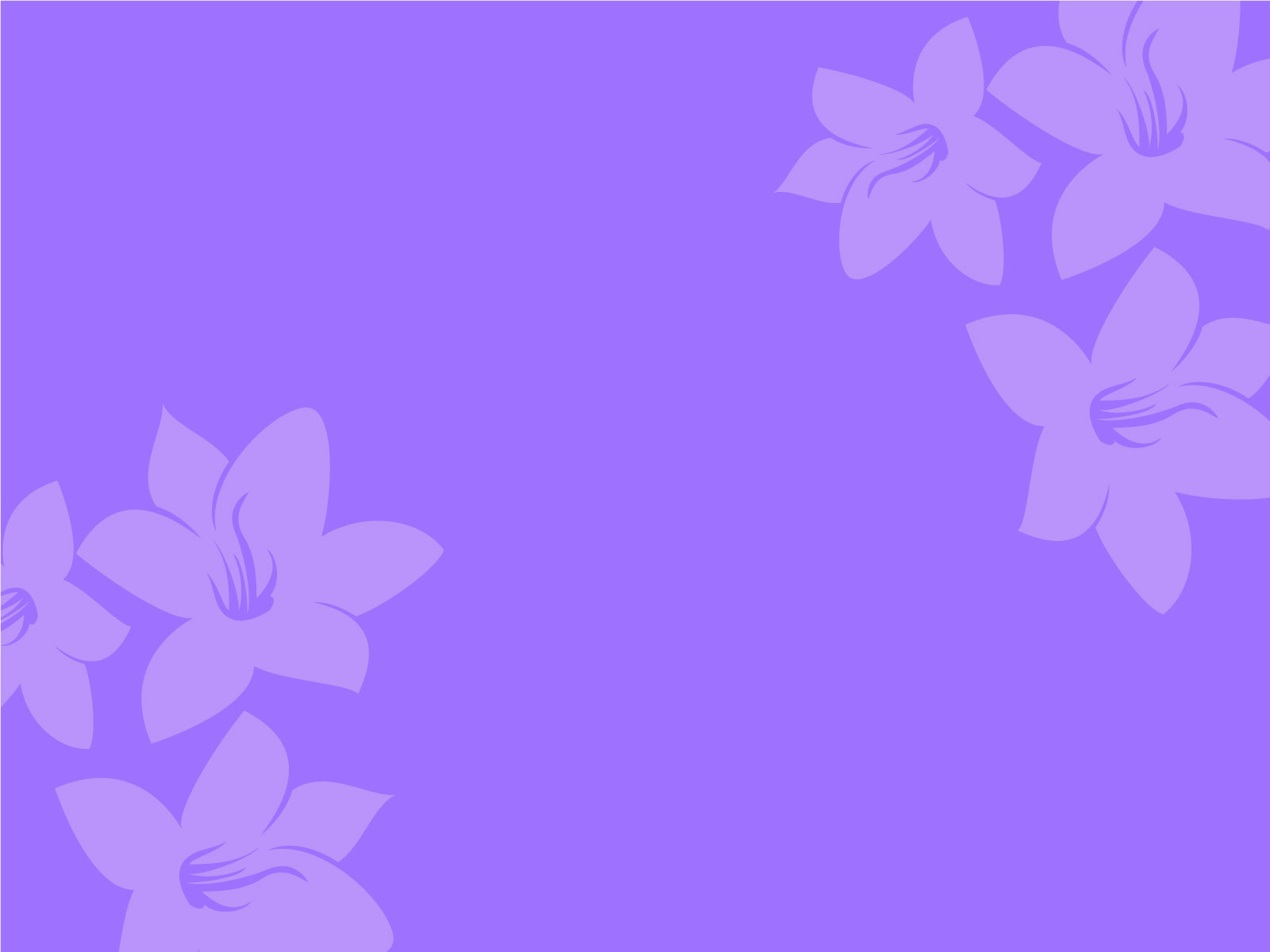 Free Purple Flower Background for Powerpoint Slides