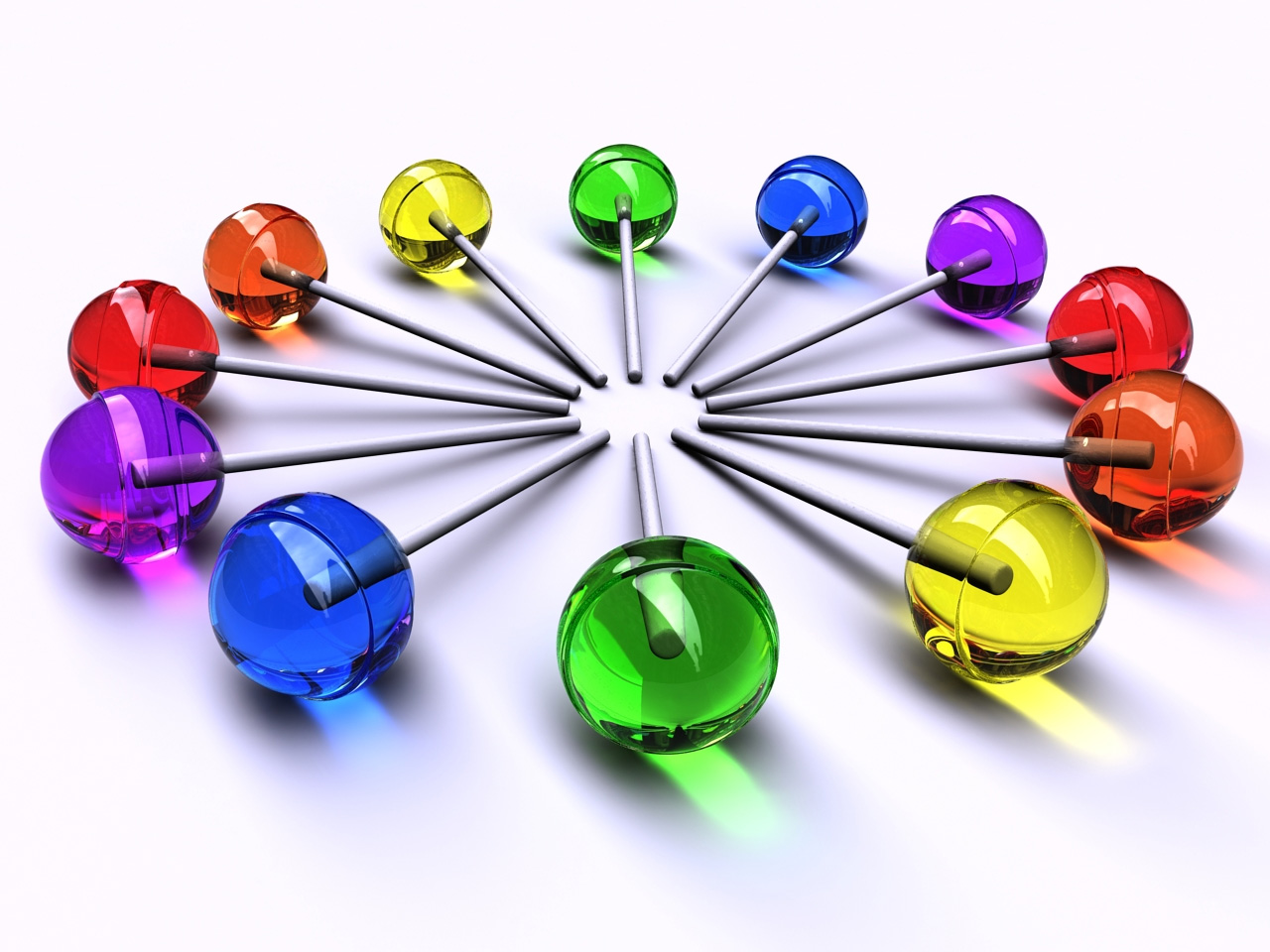 Rainbow Lollipops Circles PPT Backgrounds