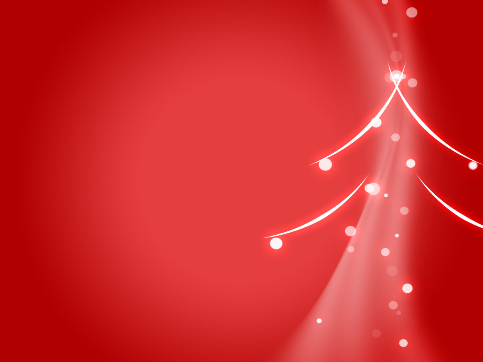 Red 2012 Christmas Tree PPT Backgrounds