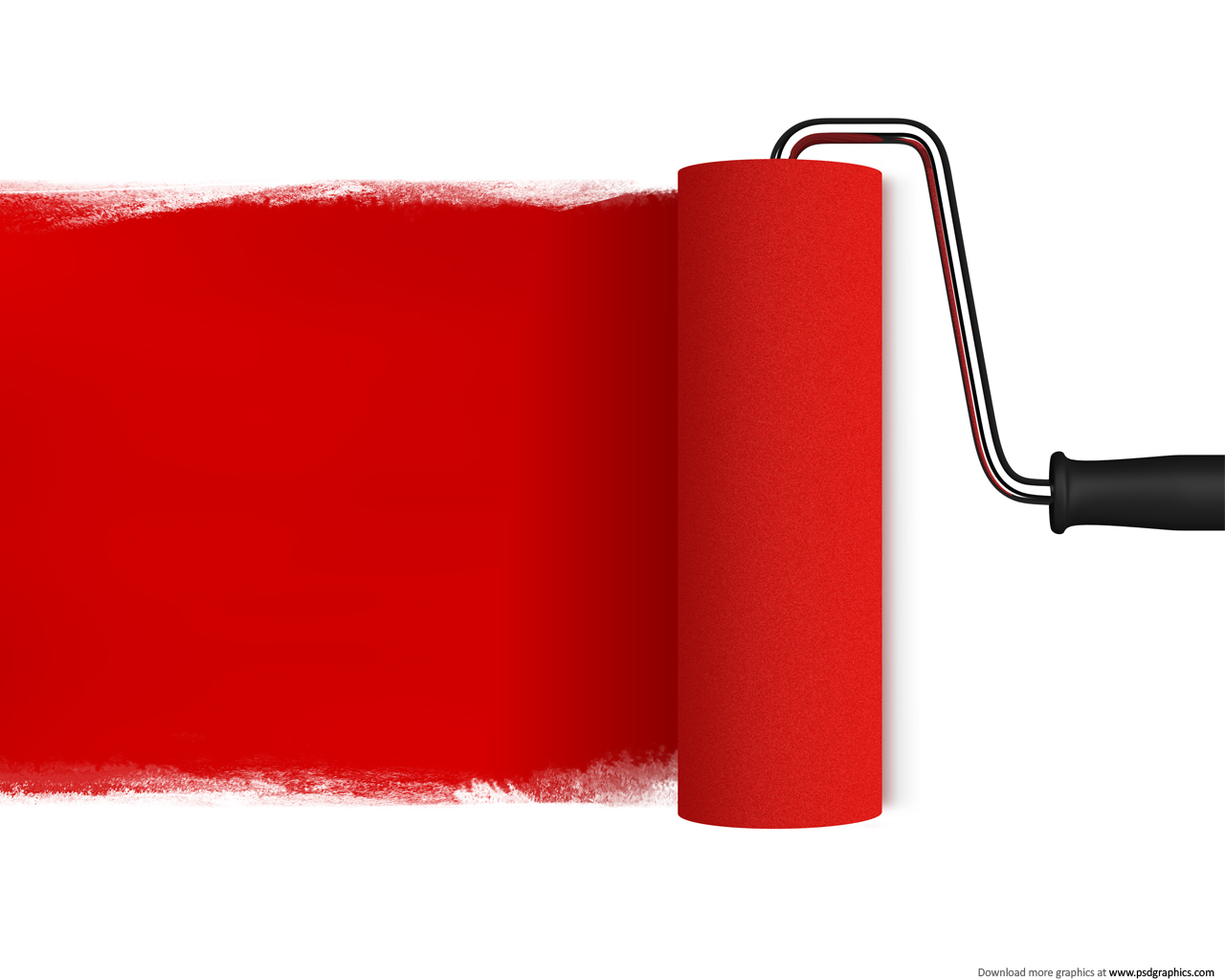 Red Paint Roller PPT Backgrounds