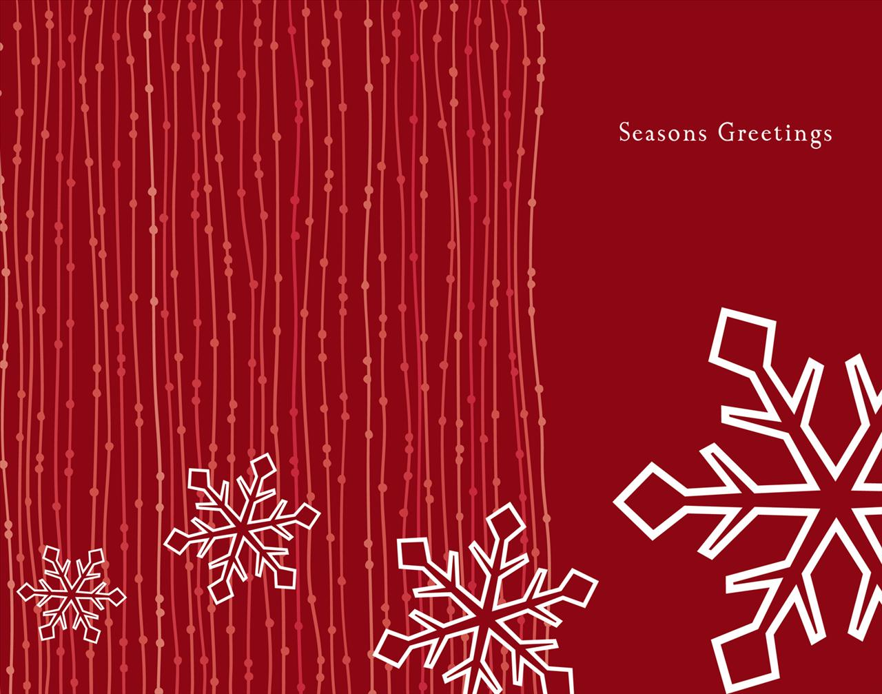 Red snowflake PPT Backgrounds