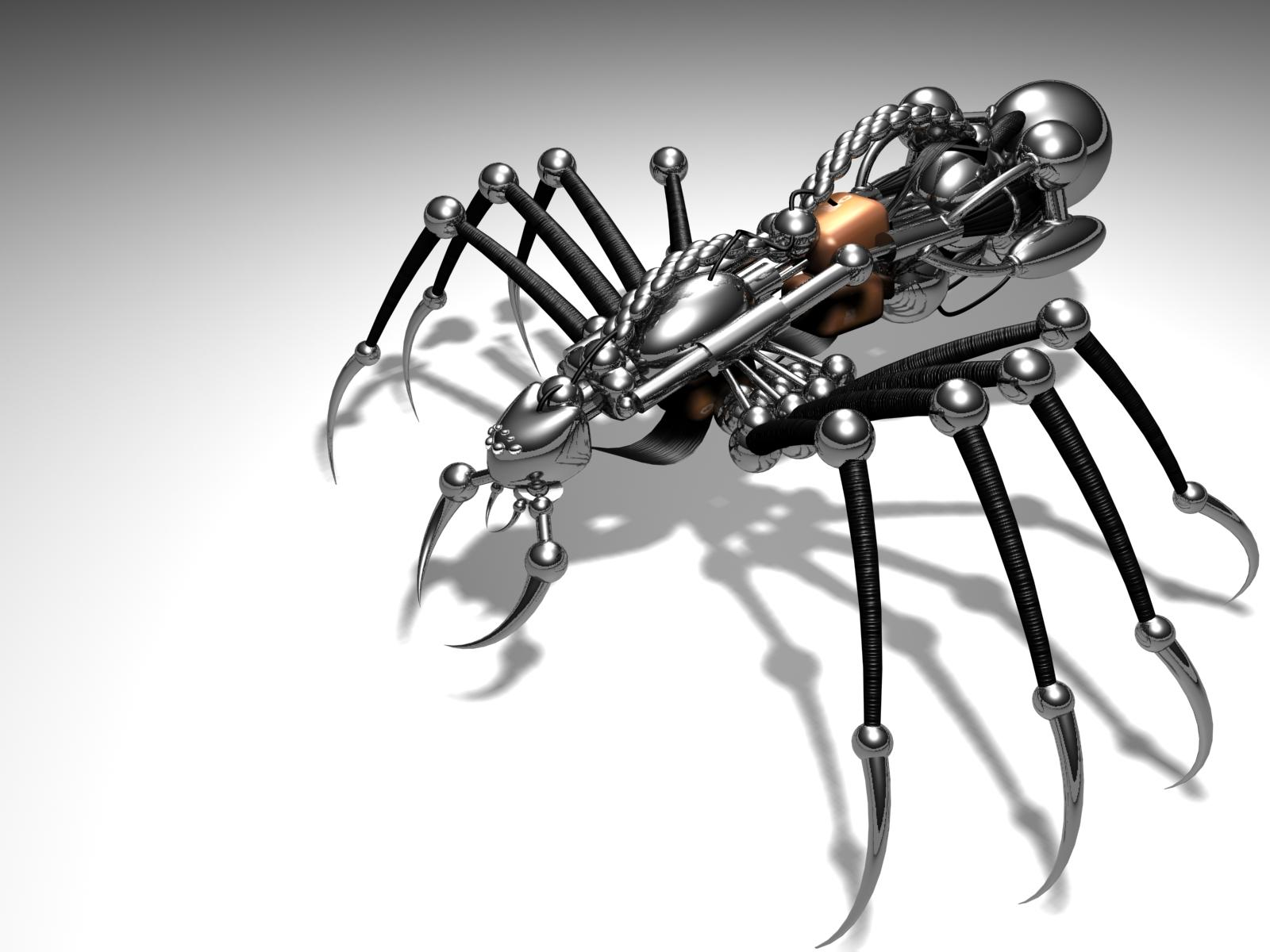 Robot Spider PPT Backgrounds