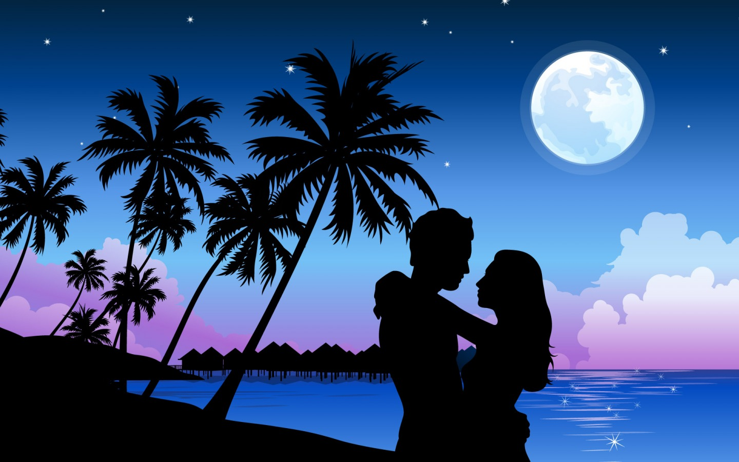 Romantic Paradise PPT Backgrounds