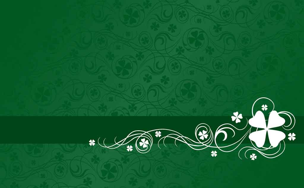Shamrock Abstract Pattern PPT Backgrounds