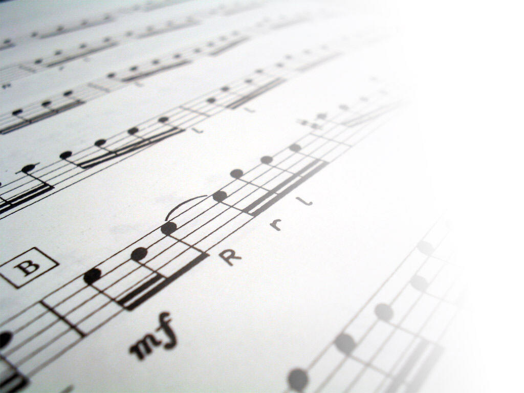 Sheet music content PPT Backgrounds