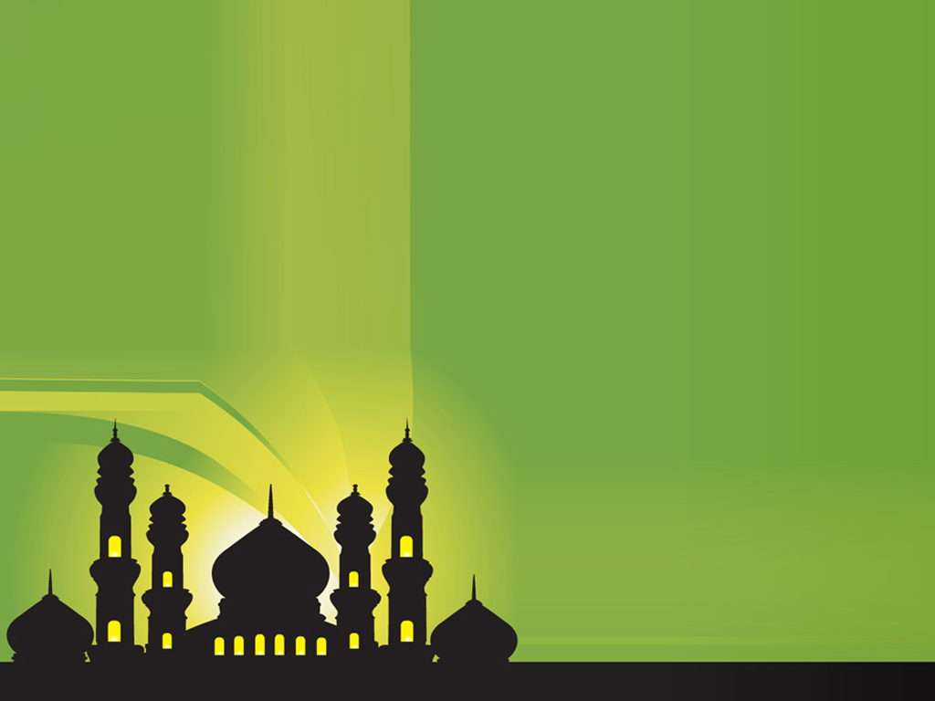 Silhouette of Mosques Islamic PPT Backgrounds