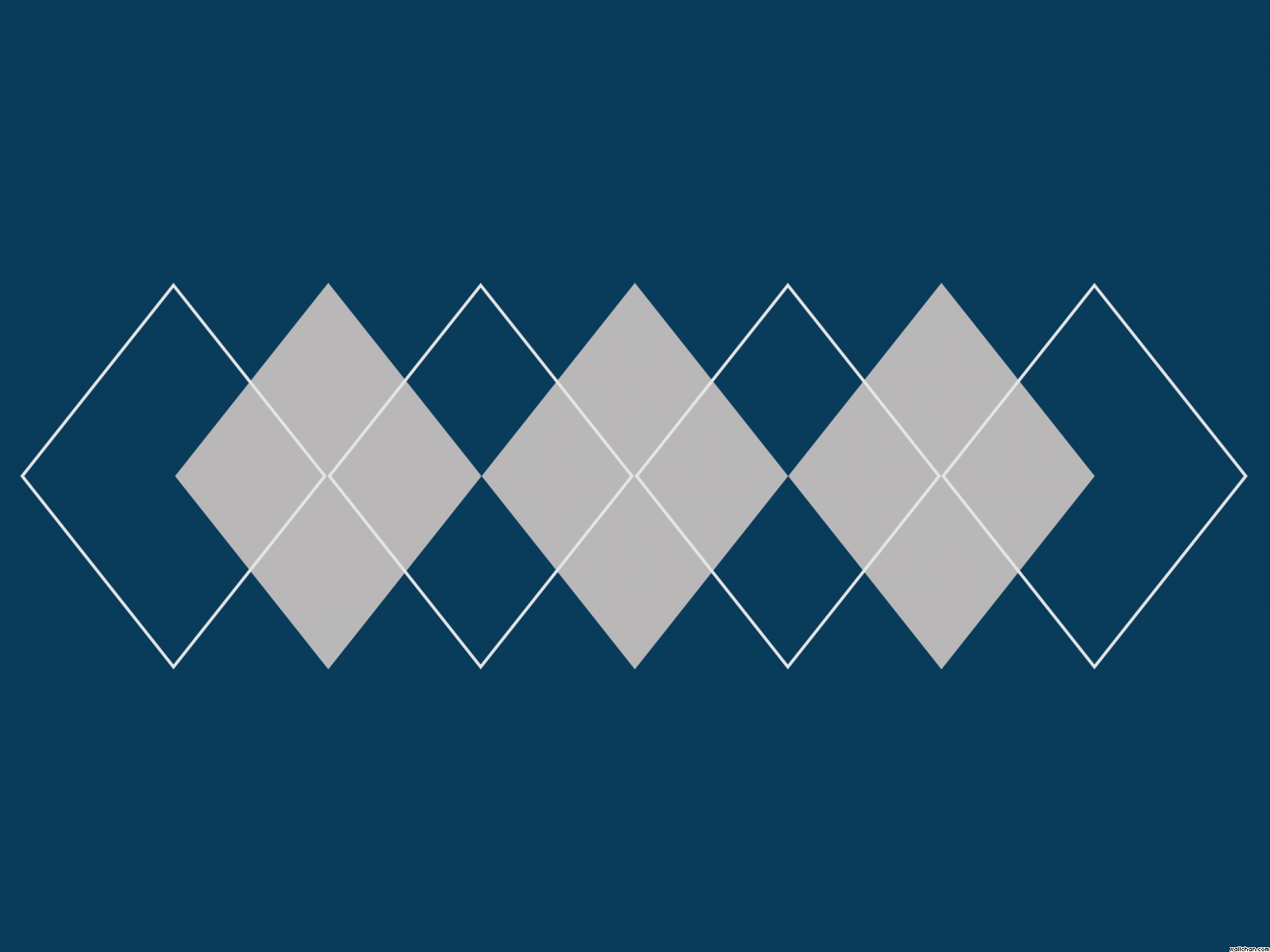 Simplistic Gray Argyle on Blue PPT Backgrounds