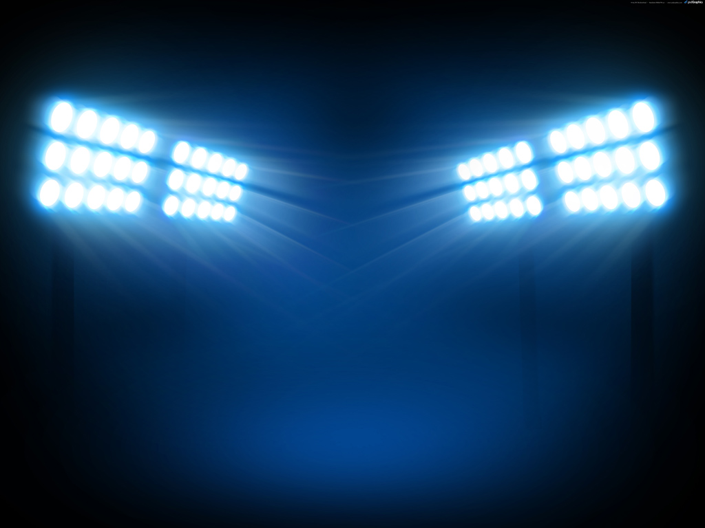 Stadium Flood Lights PPT Backgrounds