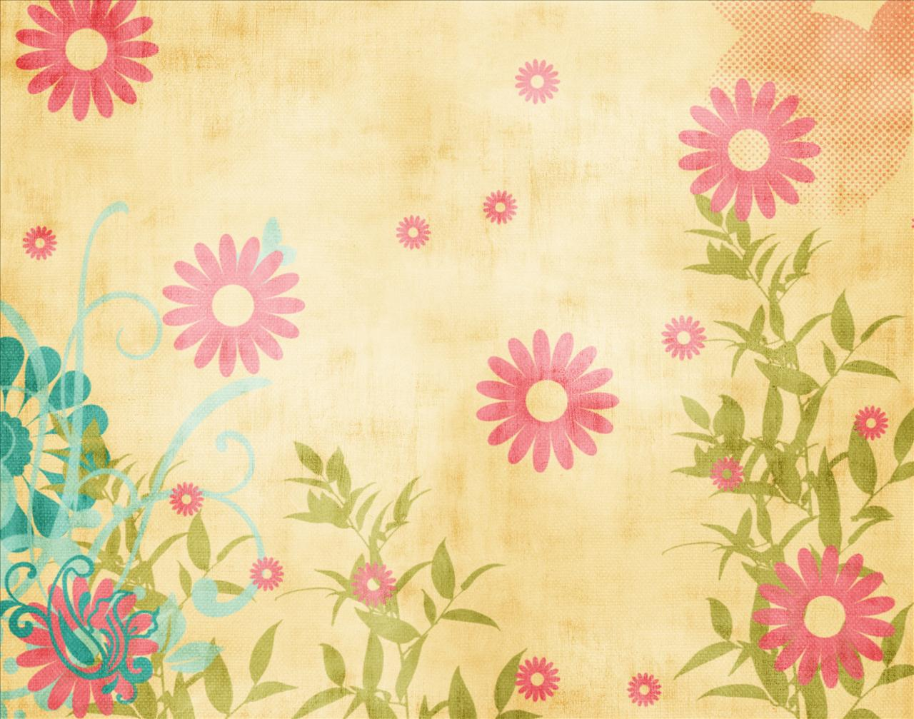 Summer flowers spring PPT Backgrounds