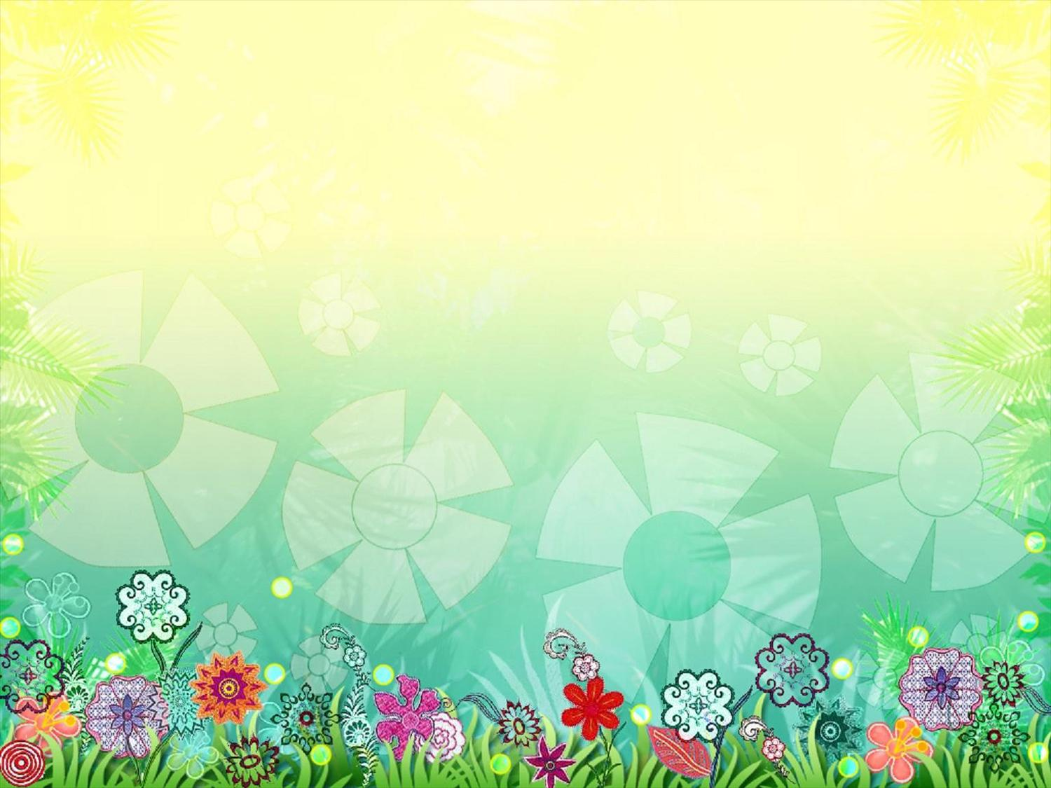 Summer Sunshine PPT Backgrounds