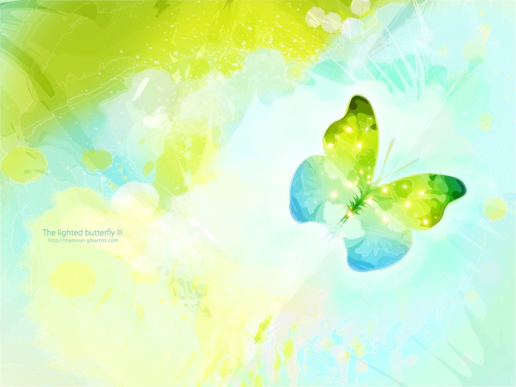 The Lights Butterflies PPT Backgrounds