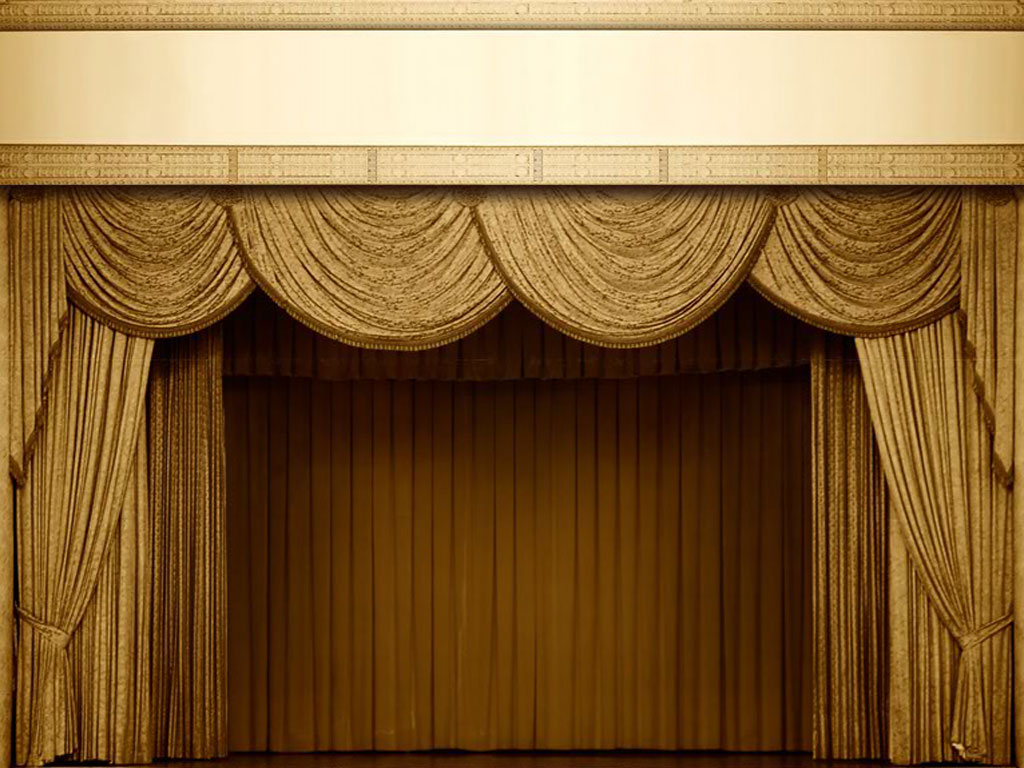Theatre Curtain PPT Backgrounds