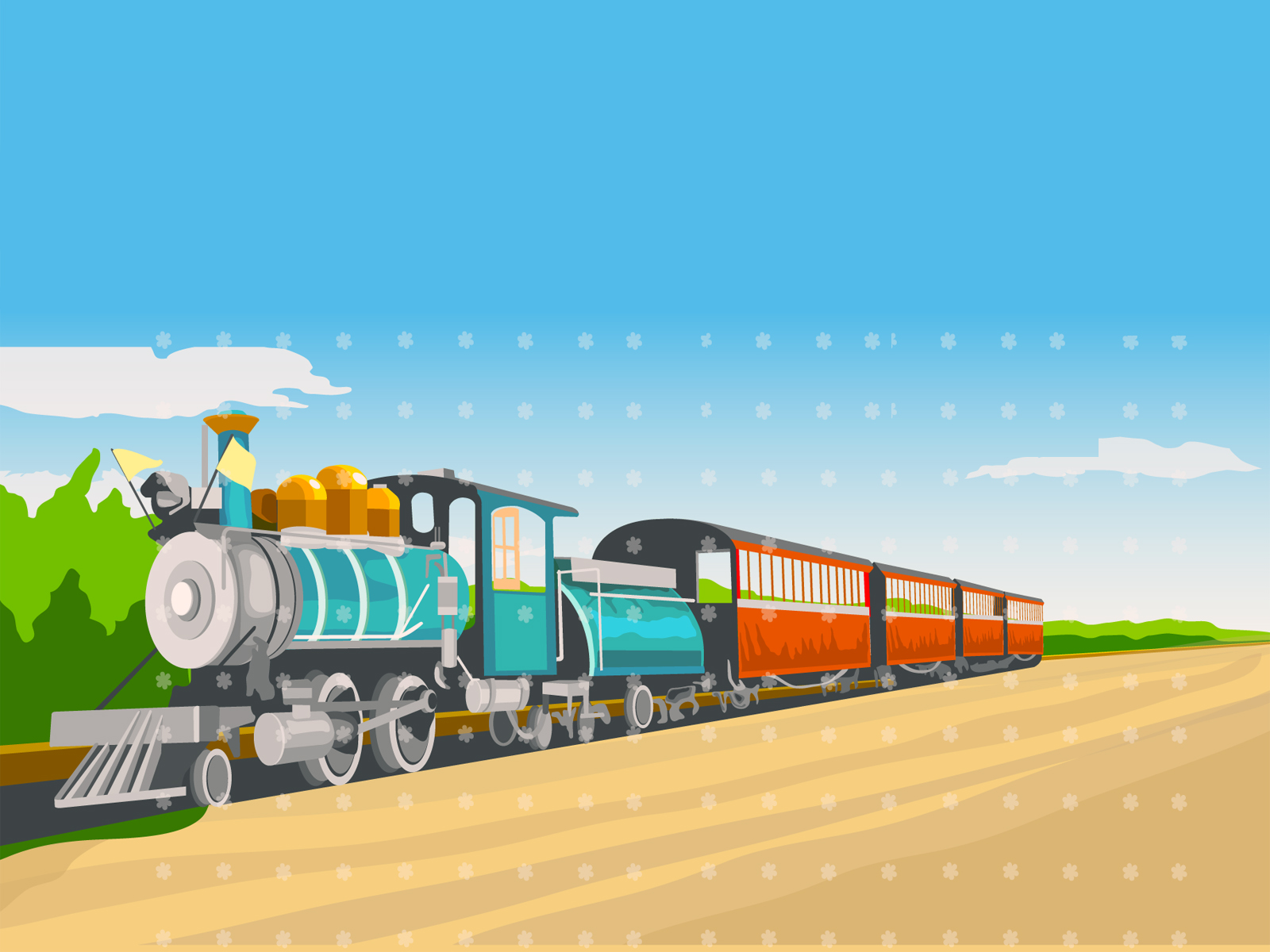 Train Trasportation PPT Backgrounds
