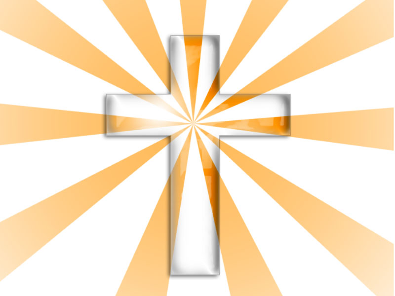 Transparent Cross Church, Media PPT Backgrounds
