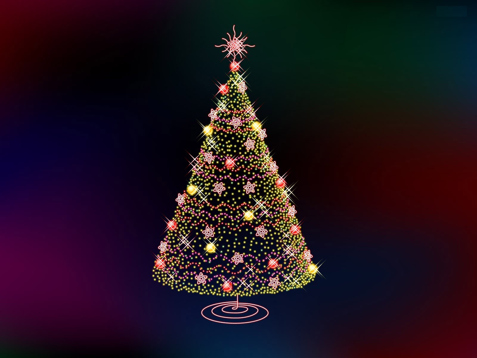 Tree for  Christmas PPT Backgrounds